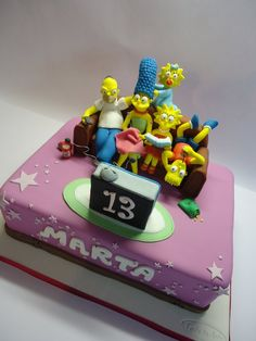 the simpsons cakee