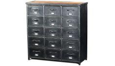 Ce bahut à 15 tiroirs complètera votre intérieur au style Atelier !