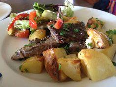 Leonie cooks!: Nigella's DELICIOUS lamb chop, lemon and potatoes
