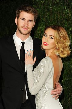 """The one-time Disney star has accepted a marriage proposal from her boyfriend of three years, 22-year-old Australian actor Liam Hemsworth. """"I'm so happy to be engaged and look forward to a life of happiness with Liam,"""" Cyrus tells People magazine."""