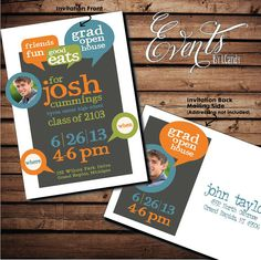 Graduation Open House Invitation Postcard by Eventsbyicandy, $1.50