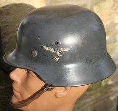 ec9050e183d0c M35 DOUBLE DECAL LUFTWAFFE C W REMAINS OF CAMO NET - NAMED.  alliedandaxismilitaria · WW1 WW2 German helmets ...
