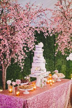 semi- naked cake wedding cake