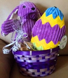 EASTER FUN Dog Gift Basket by HappyDogGoodies on Etsy