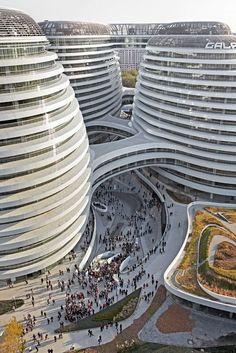 Centro Comercial-Usos Múltiples-GALAXI SOHO-Beijing-China