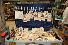 use for an old suitcase to display craft ware