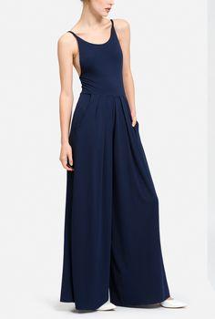 Navy Thin Strap Pantsuit
