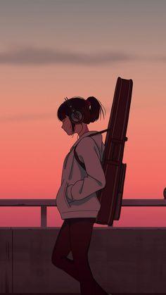 Anime Scenery Wallpaper, Cartoon Wallpaper, Iphone Wallpaper, Sunset Wallpaper, Cute Anime Wallpaper, Wallpaper Art, Power Wallpaper, Batman Wallpaper, Wallpaper Quotes
