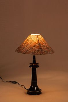 Chanapatnam Table Lamp MATERIAL-TYPE Wood MATERIAL Lac On Wood