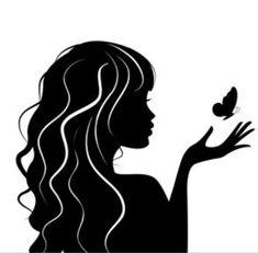 Vector illustration of beauty woman with butterfly - Vec .- Ilustración vectorial de mujer de belleza con mariposa — Vector de stock Vector illustration of beauty woman with butterfly – Stock Vector - Woman Face Silhouette, Ballerina Silhouette, Silhouette Images, Silhouette Drawings, Female Face Drawing, Silhouette Painting, Face Sketch, Face Photography, Art Drawings Sketches