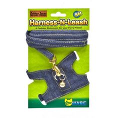 Ware Critter Jeans Harness-N-Leash is a durable and stylish denim accessory for small pets. The adjustable fit makes it easy to fit any small pet. Quality real denim, quality plastic buckle and brass colored hardware make these jeans jazzy for pets! Guinea Pig Breeding, Guinea Pig Care, Guinea Pigs, Ferrets Care, Pet Rats, Pets, Hamsters, Hedgehog Supplies, Bearded Dragon Diet