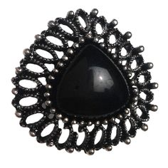Beautiful Stylish Oval Stud in Black Metal. Buy it from Flea Fashions http://fleafashions.com/earrings/stylish-metal-stud.html
