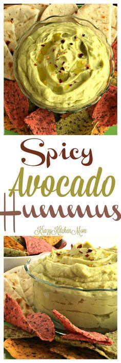 Spicy Avocado Hummus | Krazy Kitchen Mom