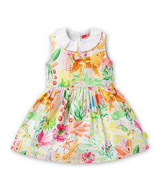 This White & Yellow Deer Dress - Infant, Toddler & Girls by Oilily is perfect! #zulilyfinds