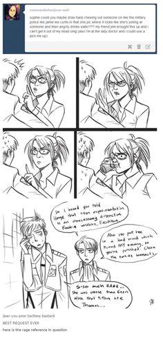 Levi taking revenge for hanji and not for him. Hanji And Levi, Eren X Mikasa, Armin, Attack On Titan Funny, Attack On Titan Anime, Levihan, Ereri, Dracula, Aot Memes