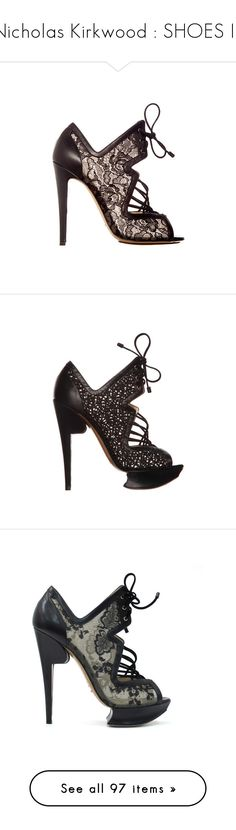 """""""Nicholas Kirkwood : SHOES III"""" by bianca-cazacu ❤ liked on Polyvore featuring shoes, sandals, summer sandals, nicholas kirkwood sandals, nicholas kirkwood shoes, nicholas kirkwood, summer footwear, summer shoes, heels and boots"""