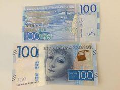 Greta Garbo on the new Swedish 100 kronor banknote.