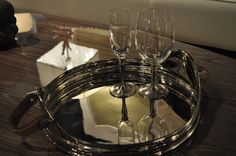 #Home #Accessories #Table #Accents #KOM #Tray #Champagne #Glasses