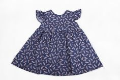 Classic Party Dress in 'Navy Feather' by ArchieBee