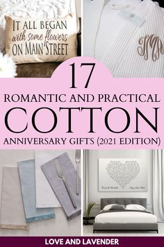 If you are getting close to celebrating two years of wedded bliss, and you're panicked about what to get for your other half, fear not - were here to help you! Here are Love and Lavenders top picks for the best cotton anniversary gifts in the market. #secondweddinganniversary #cottonweddinganniversary #cottonanniversary #cottonanniversarygift #weddinganniversary #weddinganniversarygift #weddinganniversarygiftideas
