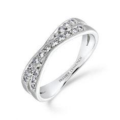 Handmade Diamond Crossover Ring 0.12ct Wedding Band by ArahJames