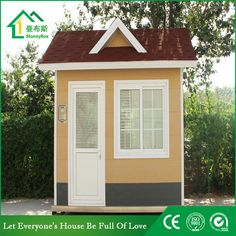 Guard house WhatsApp: +8618620106756 Steel Structure Buildings, Guard House, Coffee Bar Home, Portable Toilet, Money Box, Prefab Homes, Shed, Construction, Outdoor Structures
