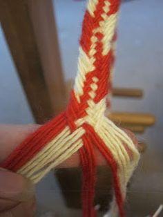 Inkle Weaving, Inkle Loom, Weaving Yarn, Tablet Weaving, Textiles Techniques, Weaving Techniques, Finger Weaving, Viking Garb, Hugo Weaving