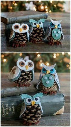 owls for mom pinecone n felt