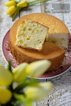 Cheesecake like Mango Yogurt Chiffon Cake