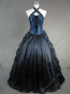 Find Victorian dress, Victorian costume women's ball gown, Gothic Steampunk costume, Renaissance gown, theater stage costume and Steampunk clothing Victorian Corset Dress, Gothic Victorian Dresses, Gothic Gowns, Victorian Ball Gowns, Gothic Lolita Dress, Goth Dress, Blue Corset, Gothic Clothing, Steampunk Clothing