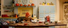 The colorful kitchen in the Paddington movie | hookedonhouses.net