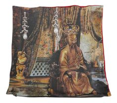 Luxury digitally printed cushion, hand made in Spain that features the famous story The Nightingale by Hans Christian Andersen Hans Christian, Cushions For Sale, Nightingale, Kaiser, Cushion Pillow, Pillows, Digital Prints, Fairy Tales, Anime