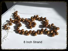 Pearls Beautiful Gloden Brown Beautiful by HolyGhostGifts on Etsy