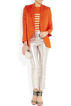 I think I can rock silver pants and orange. Stella $1,745 for the blazer!!!