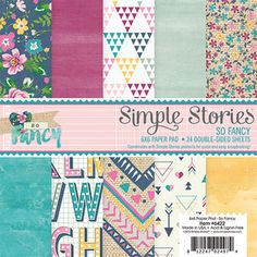 Pre-Order > So Fancy 6 x 6 Paper Pad - Simple Stories: A Cherry On Top