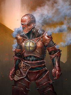 Galaxy Fantasy: Fan art: Iron Man Steampunk realizado por Thomas Tan
