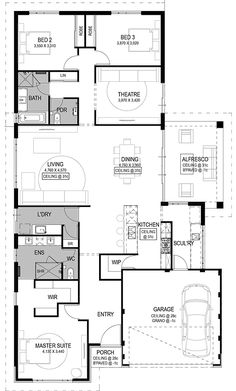 The Genoa Floorplan By National Homes New House Plans, Dream House Plans,  House Floor