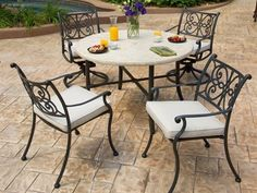 Landgrave Venice Cushion Cast Aluminum Dining Set by Landgrave. $2119.00. Shop for cast aluminum dining sets at PatioFurnitureBuy.com today and save! When looking for top quality Landgrave furniture products for your outdoor furniture needs, this Landgrave venice cushion cast aluminum dining set (VENDS) will provide years of enjoyment for your furniture decor.