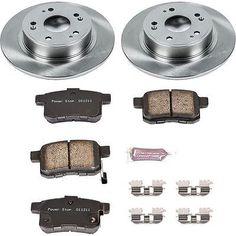 Powerstop Brake Disc And Pad Kits 2-wheel Set Rear Coupe Sedan Koe3127 #car #truck #parts #brakes #brake #discs, #rotors #hardware #koe3127