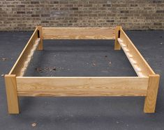 Simple Full Size Platform Bed Frame Custom Made from American by MountainMuleHardwood Full Size Platform Bed, Platform Bed With Storage, Diy Platform Bed, Bed Frame Design, Bed Design, Art Floral Noel, Bed Hardware, Wood Beds, Bed Plans