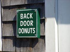 Back door donuts. Oak Bluffs, Martha's Vineyard.