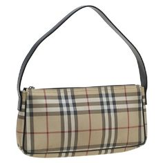 75f18286ce73 Burberry Nova Check Beige shoulder bag Burberry PVC-coated canvas bag with  top flat handle