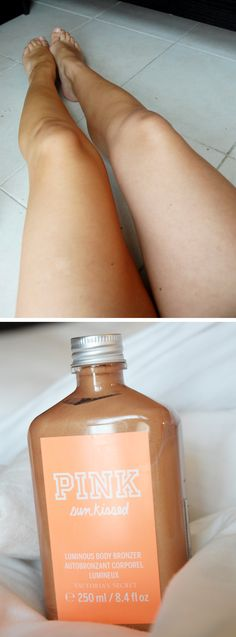 Beautiful Victorias Secret legs in an instant! Smells devine too. It has a slight shimmer and is a wasoff product! www.sofiaroos.blogg.se