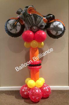 """""""Motorbike"""" #balloondelivery #motorbikeballoon #sendballoonscanberra…"""