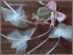 Κρεμαστή μπομπονιέρα γάμου βάπτισης ρόδι πιπίλα...Wedding christening favor with pomegranate as happiness symbol...