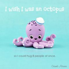 Simple cute OCTOPUS topper :) - CakesDecor