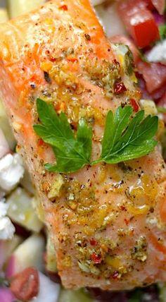 baked lemon and herb salmon