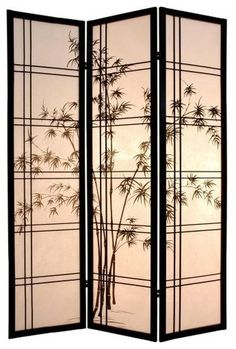 The Oriental Furniture Bamboo Tree Room Divider brings Asian inspiration to your room decor. Surround yourself with the relaxing look of bamboo. Oriental Decor, Oriental Furniture, Bamboo Furniture, Cheap Furniture, Style Asiatique, Room Divider Screen, Room Dividers, Shoji Screen, Japanese Screen