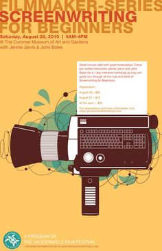 Poster for Jacksonville Film Festival filmmaker series » Beginning Screenwriting. Does anyone know who did this poster?