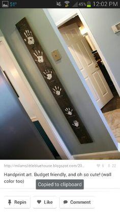 Handprint art - between closet and front door